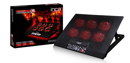 INC-601 GMS  6X FAN ,CONTROL PANEL,2X USB,6 KADEMELİ  GAMING NOTEBOOK  SOĞUTUCU YENİ 17